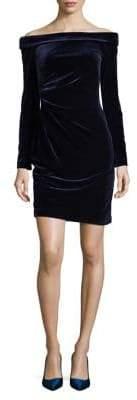 Eliza J Velvet Shift Mini Dress