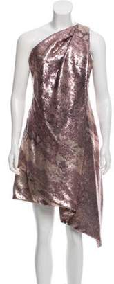 Kaufman Franco Kaufmanfranco Sequined One-Shoulder Dress w/ Tags Kaufmanfranco Sequined One-Shoulder Dress w/ Tags
