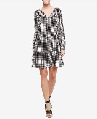 Sanctuary Britt Checkered Peasant Dress $129 thestylecure.com