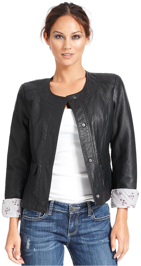 KUT from the Kloth Long-Sleeve Faux-Leather Jacket