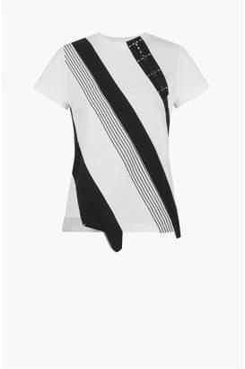 Sonia Rykiel Mixed Fabric Short-Sleeved T-Shirt