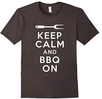 Keep Calm and BBQ On Novelty Barbecue T Shirt