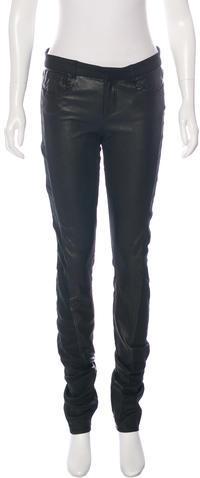 Helmut LangHelmut Lang Leather-Paneled Skinny Pants