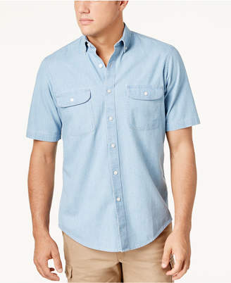 Club Room Men Two-Pocket Chambray Shirt