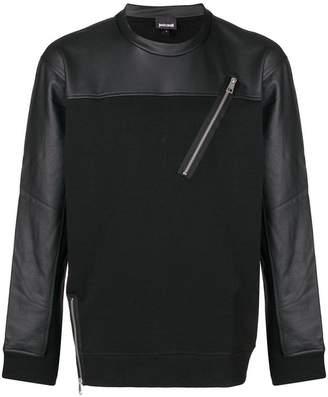 Just Cavalli zip detail sweatshirt