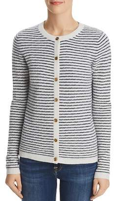 Bloomingdale's C by Pointelle Striped Cashmere Cardigan - 100% Exclusive