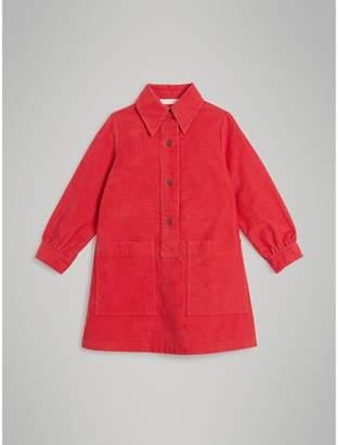 Burberry Corduroy Shirt Dress