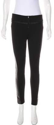 Just Cavalli Faux-Leather-Accented Leggings