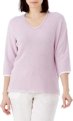 Olsen Santorini V-Neck Dolman-Sleeve Sweater