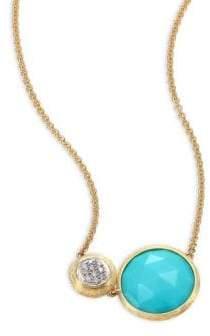 Marco Bicego Jaipur Diamond, Turquoise& 18K Yellow Gold Pendant Necklace