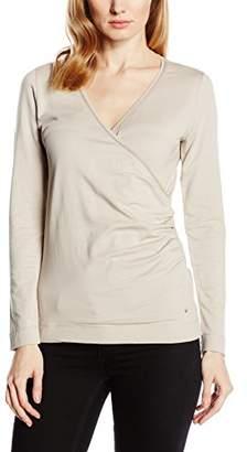 Passport Women's P313397-016 Long Sleeve T-Shirt - Beige - 8