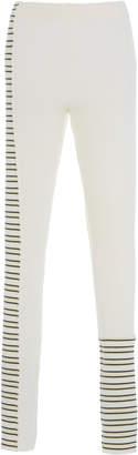Jil Sander Striped High-Rise Wool Leggings