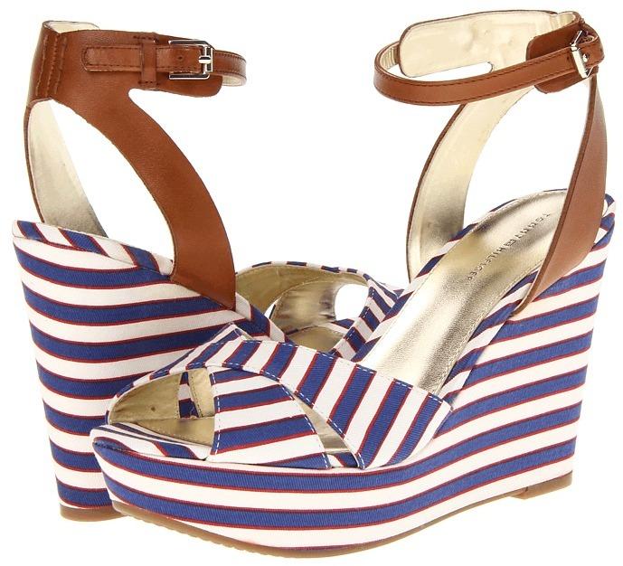 Tommy Hilfiger Veruca 2 (White/Blue/Red Poppy Floral) - Footwear