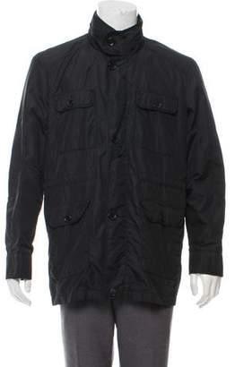 Barneys New York Barney's New York Twill Military Jacket