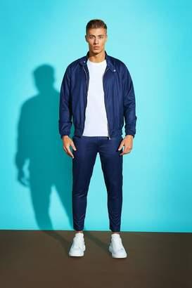 boohoo Bold Check Harrington Jacket