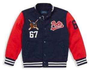 Ralph Lauren Little Boy's Double Tech Knit Varsity Jacket