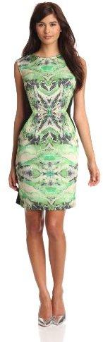 Suzi Chin Women's Mirror Print Sheath Dress