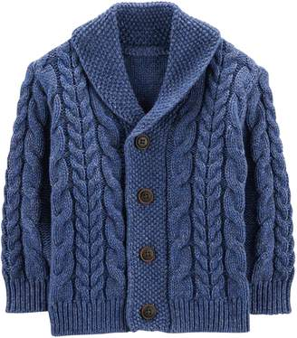 Osh Kosh Oshkosh Bgosh Baby Boy Cable Knit Shawl Cardigan