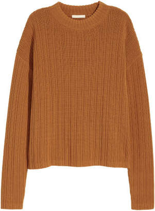 H&M Rib-knit Sweater - Yellow