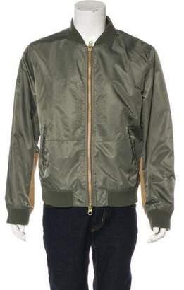 Frame Suede-Blend Bomber Jacket