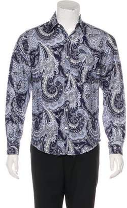 Ralph Lauren Purple Label Tonal Paisley Shirt