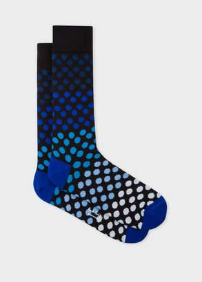 Paul Smith Men's Black Gradient Polka Dot Socks