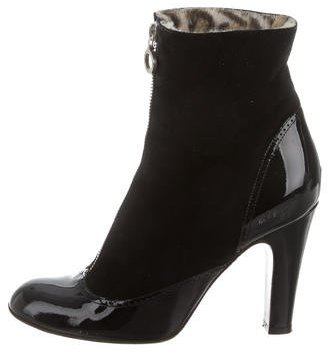 Marc Jacobs Marc Jacobs Suede Zip-Up Ankle Boots