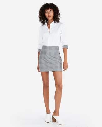 Express Contrast Striped Cuff Button Up Shirt
