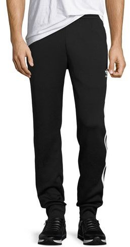 Adidas Track-Stripe Jogger Pants, Black