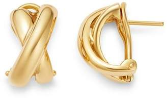 Roberto Coin 18K Yellow Gold Crossover Hoop Earrings