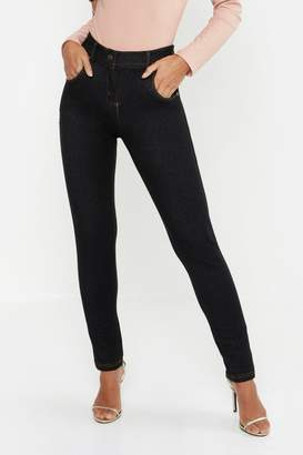 boohoo Petite One Button High Rise Skinny Jegging