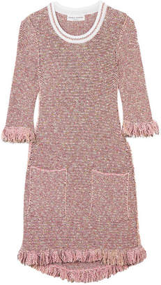 Sonia Rykiel Sequin-embellished Cotton-blend Tweed Mini Dress - Pink