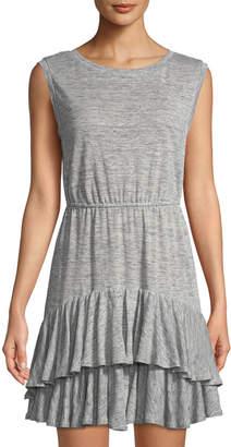 Rebecca Taylor Ruffle-Tiered Jersey Mini Dress