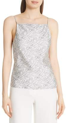 Theory Summer Wave Cowl Back Silk Camisole