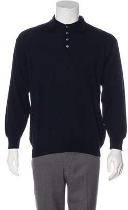 Versace Wool Polo Shirt