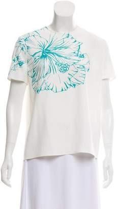 Mira Mikati Floral Print Short Sleeve Top