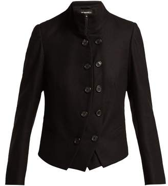 Ann Demeulemeester Layered Wool Military Jacket - Womens - Black