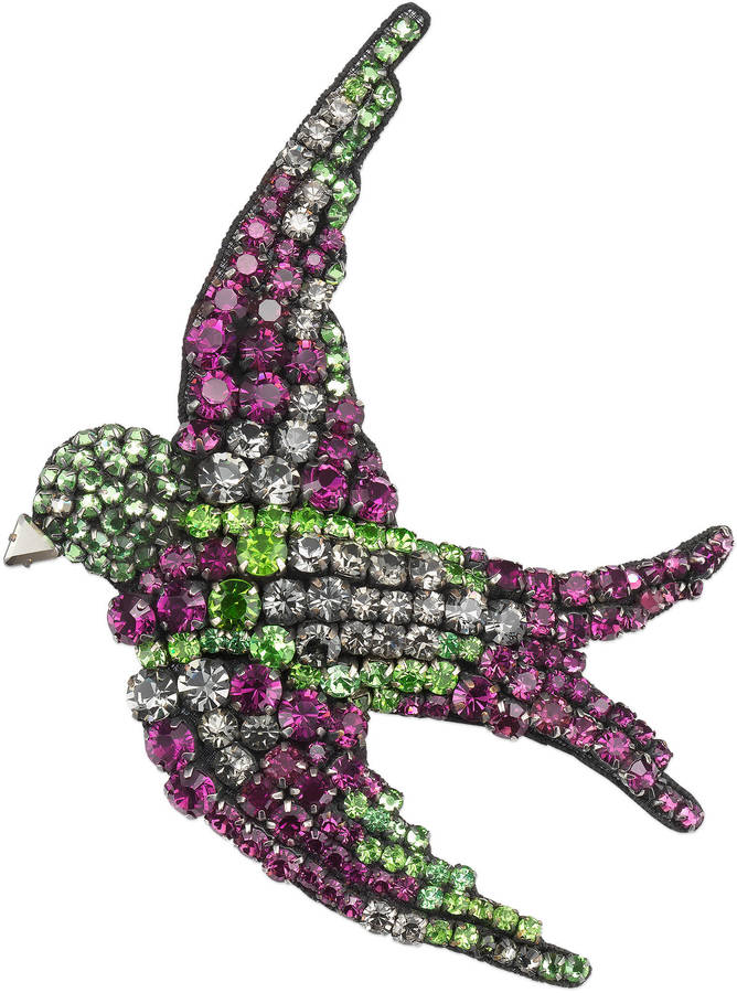GucciEmbroidered bird brooch