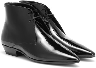 Saint Laurent Jonas patent leather ankle boots