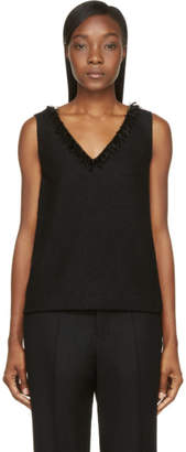 Mother of Pearl Black Wool Crepe Wynn Tank Top