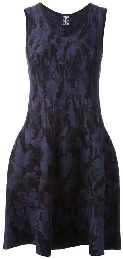 Tricot Chic camouflage sweater dress