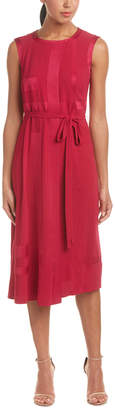 Escada Layered Front Shift Dress