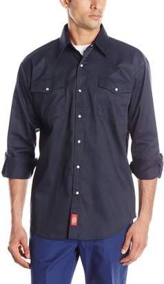 Dickies Men's Long Sleeve Snap Work Shirt