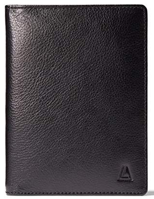 Leather Architect Men's 100% Leather RFID Blocking Passport Holder With 3 Slip-In Pockets