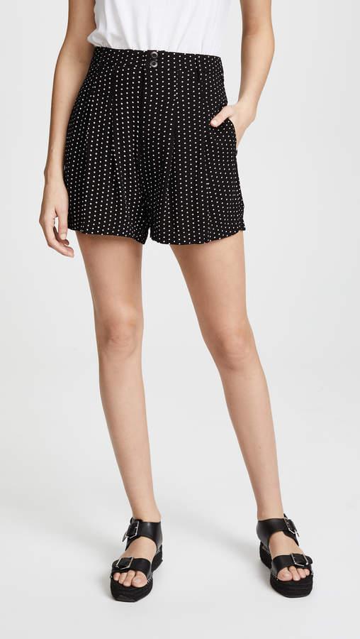 Magdalene Pleated Printed Shorts