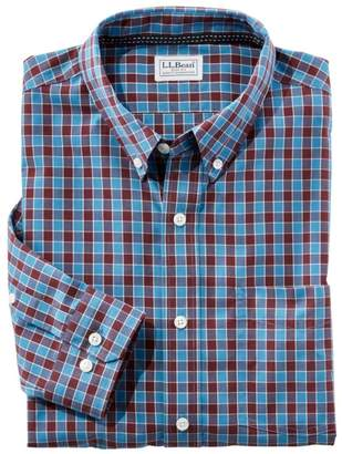 L.L. Bean L.L.Bean Men's Wrinkle Free Brushed Cotton Sportshirt, Slightly Fitted Long-Sleeve Plaid