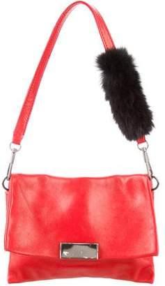 3.1 Phillip Lim Fur-Trimmed Leather Bag