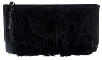 Herve Leger Fox Oversized Clutch