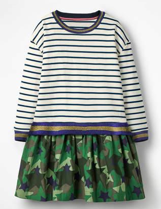 Boden Fun Jersey Woven Dress