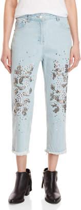 Religion Dash Embellished Fringe Jeans